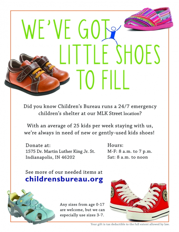 02 06 15 shoesshelter in kind donations children's bureau,Childrens Clothes Donations