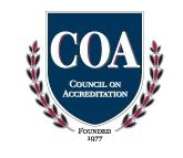Council on Accreditation shield