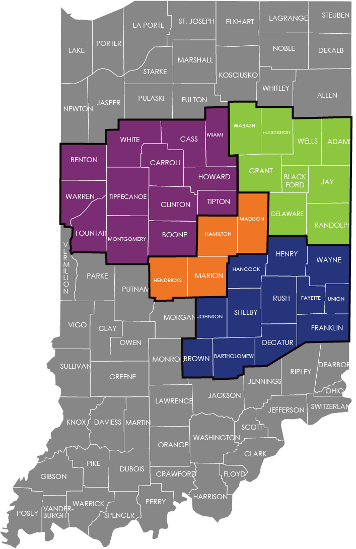 CCDF counties served map